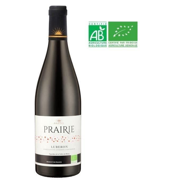 Prairie 2018 Lubéron - Vin rouge de la Vallée du Rhône Bio