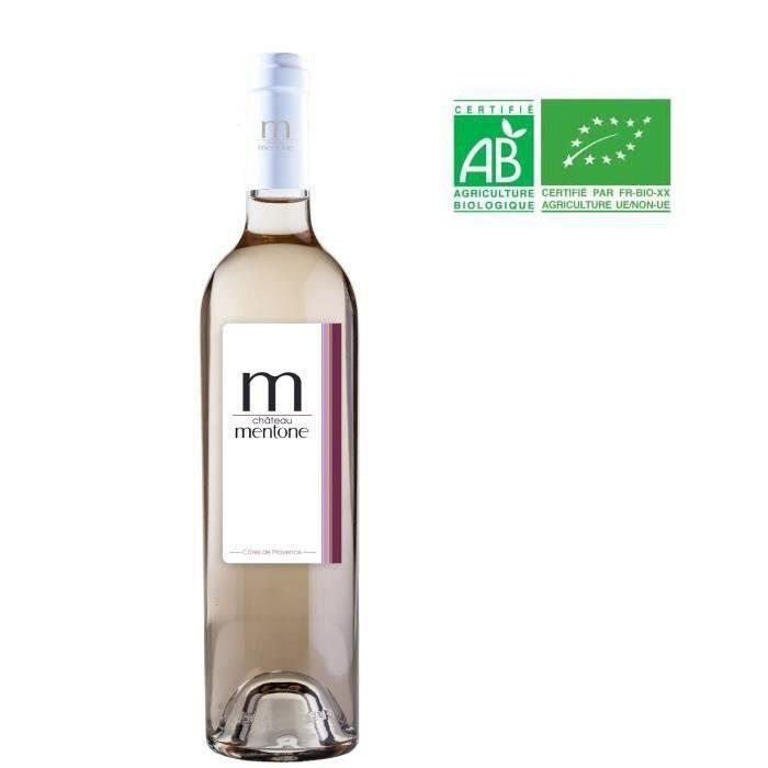Château Mentone 2019 Côtes de Provence - Vin rosé de Provence - Bio