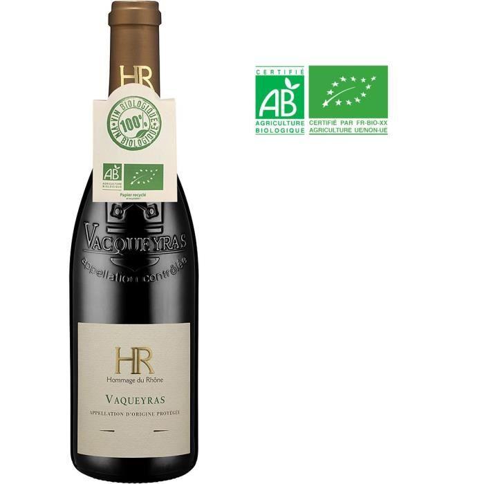 Hommage du Rhône 2019 Vacqueyras - Vin rouge de la Vallée du Rhône - Bio