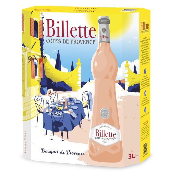 BIB Billette Tradition Rosé AOC Côtes de Provence - Vin rosé