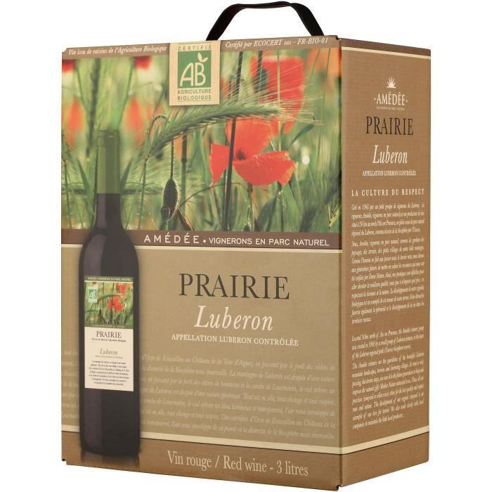 BIB Prairie Lubéron - Vin rouge de la Vallée du Rhône Bio