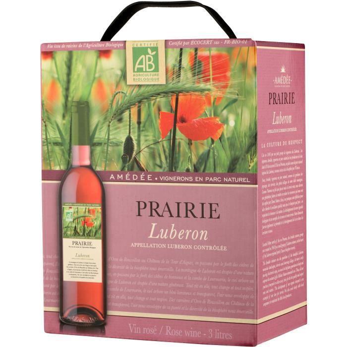 BIB Prairie Lubéron - Vin rosé de la Vallée du Rhône Bio