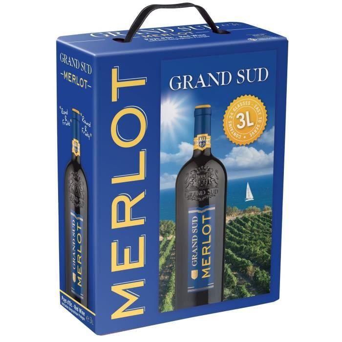 Grand Sud IGP Pays d'Oc Merlot - Vin rouge du Languedoc-Roussillon