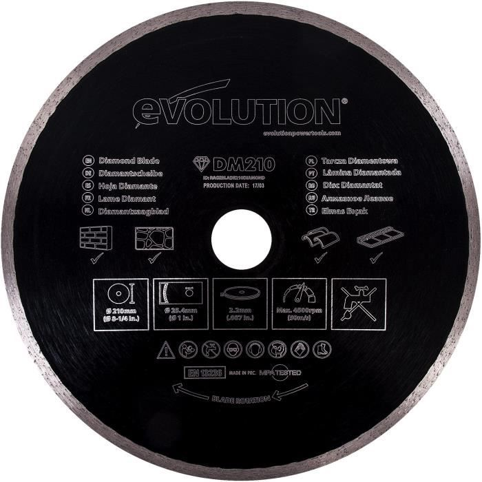 EVOLUTION Disque diamant FURY 210mm