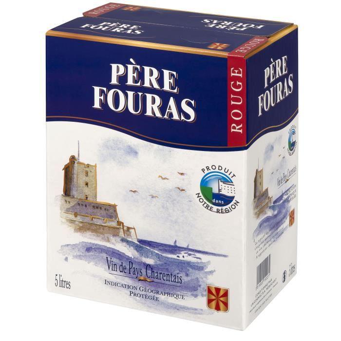 BIB Père Fouras Vin de Pays Charentais - Vin rouge du Sud-Ouest - 5 L