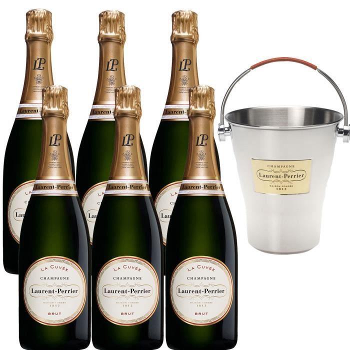 Champagne Laurent-Perrier La Cuvée - 6 bouteilles x 75 cl + 1 seau