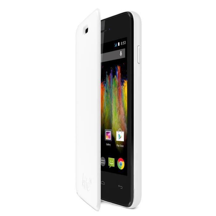 Wiko Folio Back cover Kite Blanc