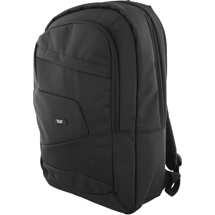 TNB Sac à dos - Ordinateur Portable 16 pouces - 1 compartiment matelassé + 1 poche avant - matériaux résistants