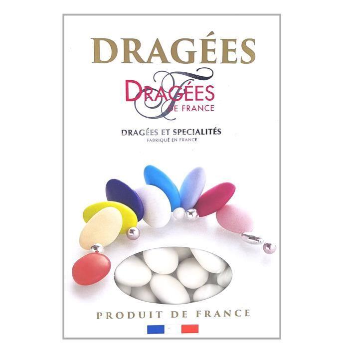 DRAGEES DE FRANCE Dragées Marguerite - Blanc - 18% d'amande - 1 kg