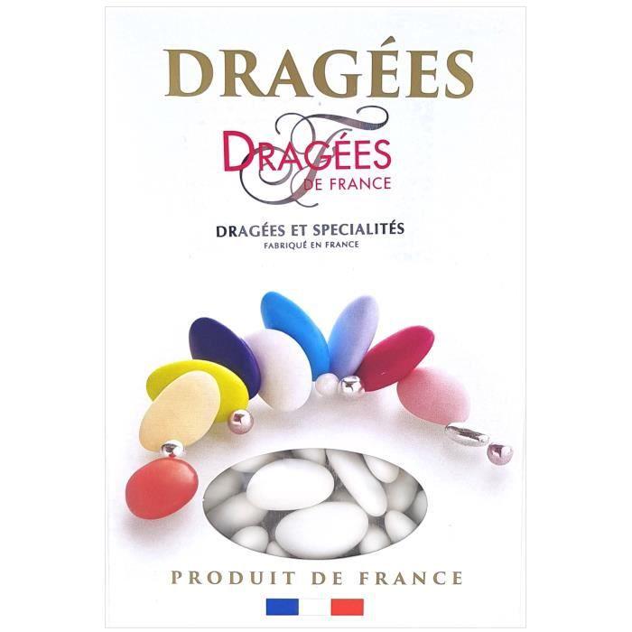 DRAGEES DE FRANCE Dragées Avola Trèfles - Blanc - 28% d'amande - 1 kg