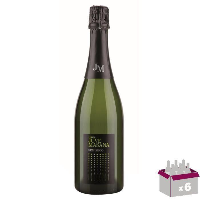 JUVE MASANA CAVA Vin d'Espagne Demi sec - Blanc - 75 cl x 6