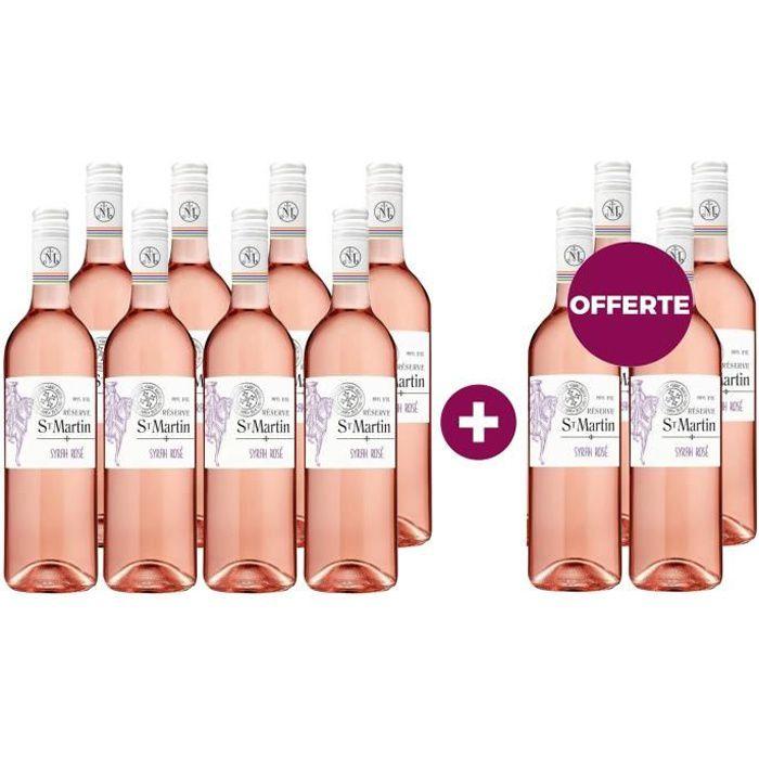 8 achetées - 4 offertes Réserve St Martin 2019 Pays d'Oc - Vin rosé du Languedoc-Roussillon