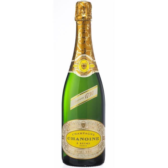 Champagne Chanoine demi-sec - 75 cl