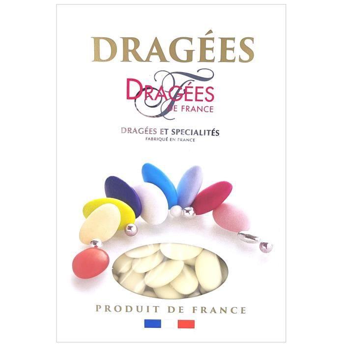 DRAGEES DE FRANCE Dragées Avola Trèfles - Ivoire - 28% d'amande - 1 kg