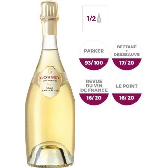 Champagne Gosset Grand Blanc de blancs Brut - 37,5 cl