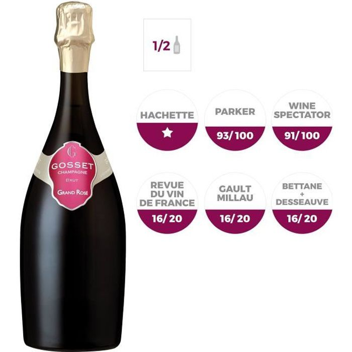 Champagne Gosset Grand Rosé - 37,5 cl
