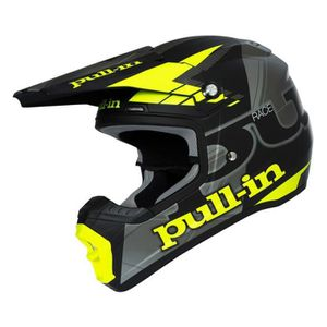 PULL IN Casque Cross Race Noir et Jaune