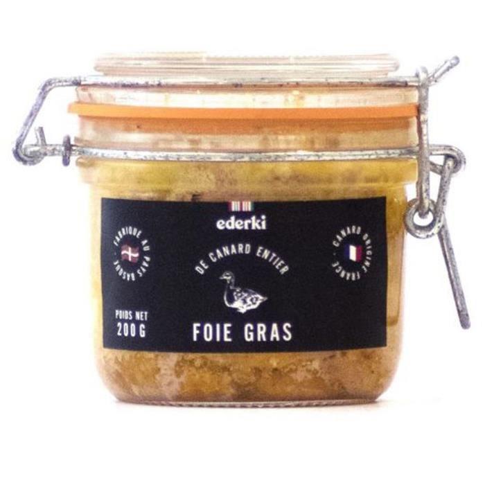 EDERKI Foie gras de canard entier - 200 g