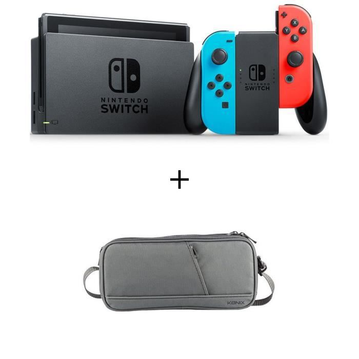 Pack Nintendo Switch Néon + une sachoche de transport Switch
