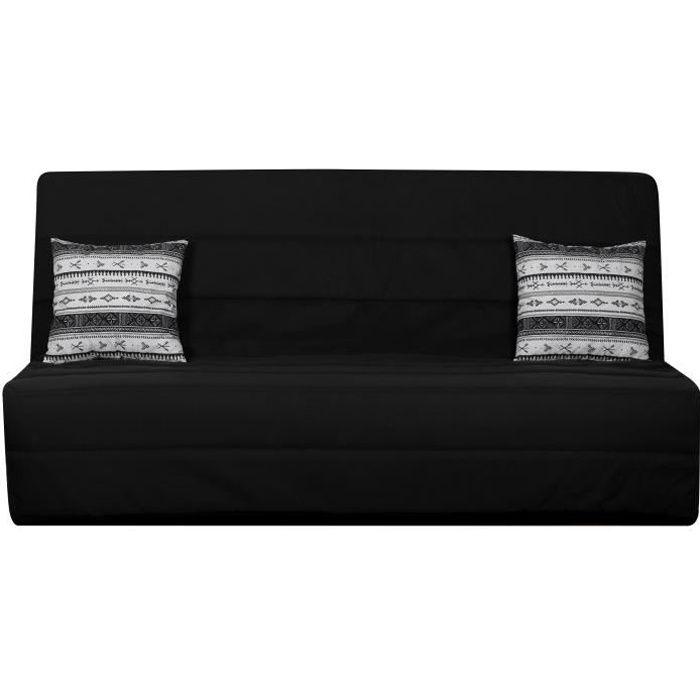 OPS 100% FRANCAIS - Banquette clic-clac 3 places SPLOT - Tissu motif berbère - L 190 x P 95 cm