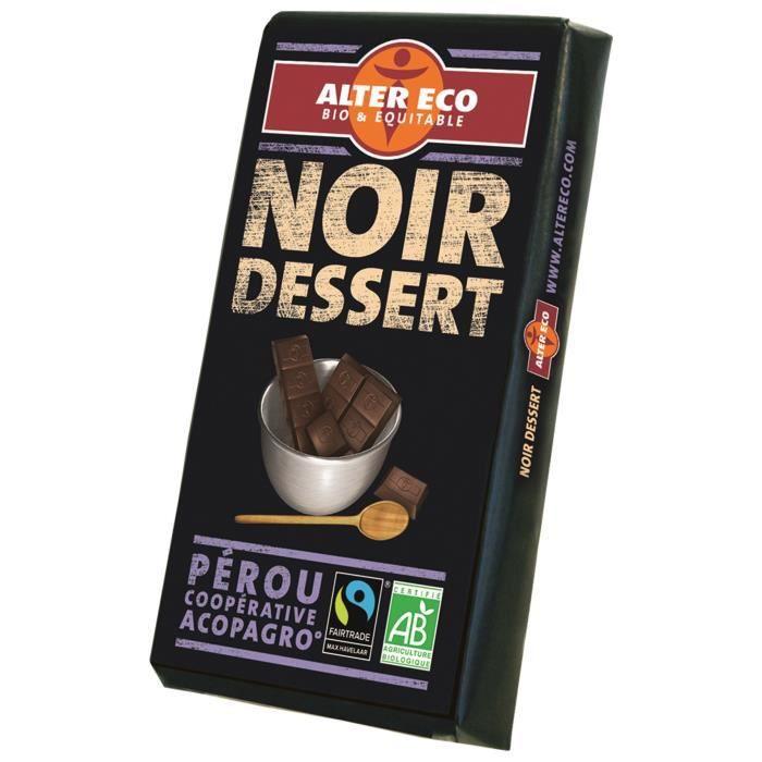 Choc nr dessert 200g alter eco bio