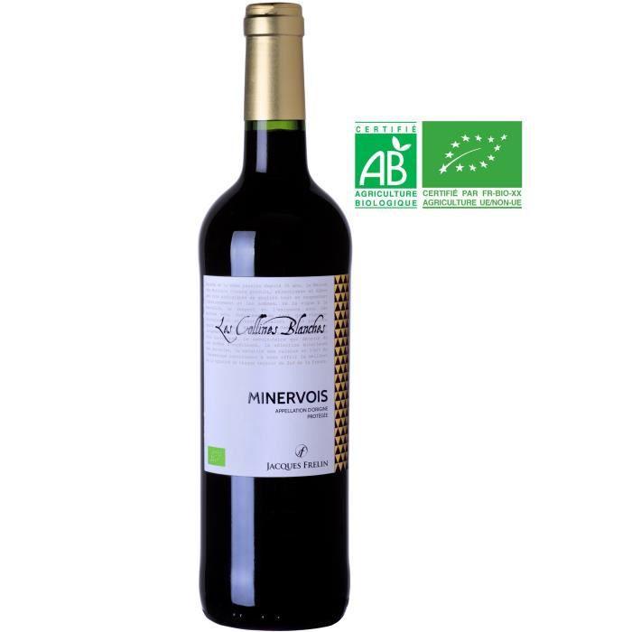 Collines Blanches 2017 Minervois - Vin rouge du Languedoc-Roussillon - Bio