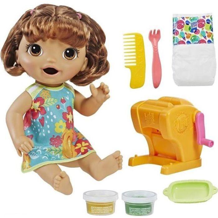 BABY ALIVE - Super Snacks - Poupon à Fonctions (cheveux bruns)
