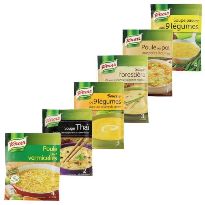 Knorr - Assortiment de 6 soupes - différentes variétés