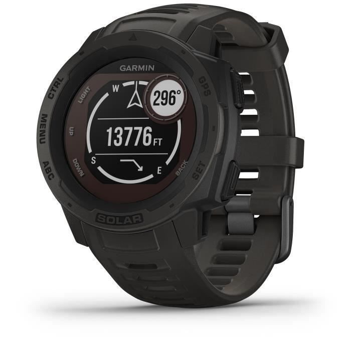 GARMIN Instinct® Solar Montre connectée, Graphite