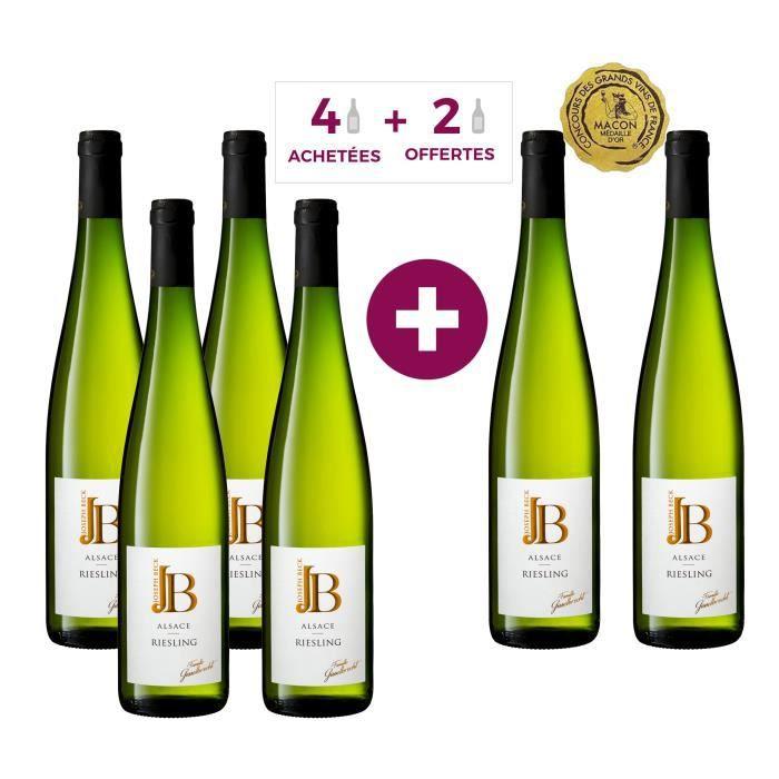 JOSEPH BECK 2019 Alsace Riesling - Vin blanc d'Alsace - 4 achetées + 2 gratuites