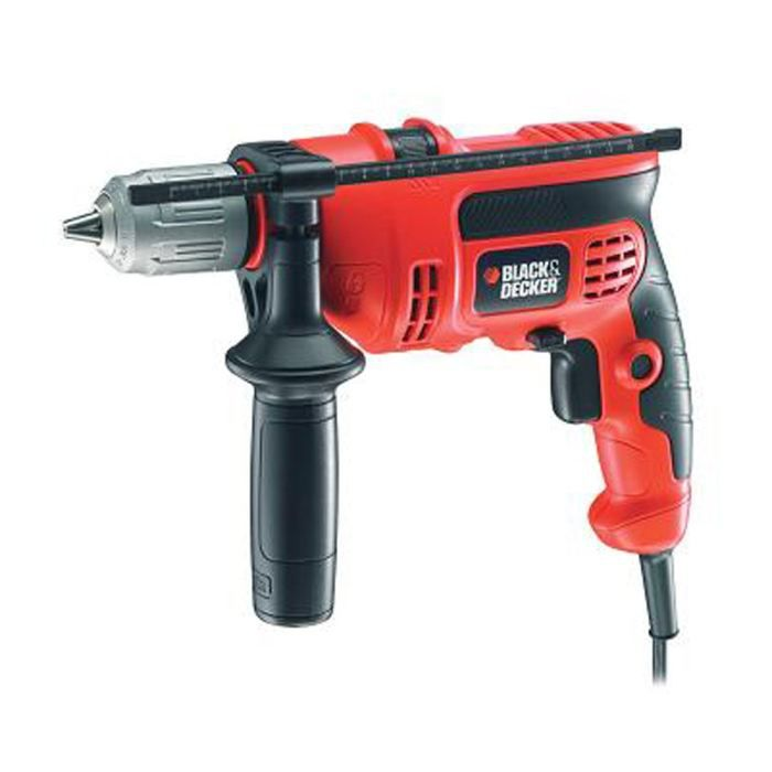 BLACK&DECKER Perceuse à percussion KR604CRESK 600W