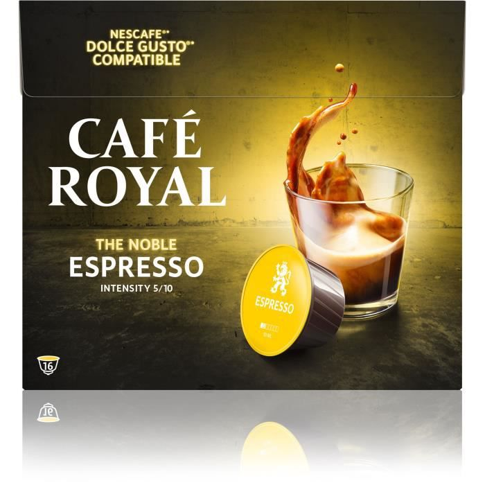 Café royal dolce gusto Espresso Capsules compatibles Système Dolce Gusto ®