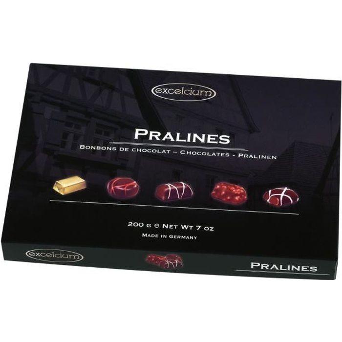 EXCELCIUM - Assortiment de chocolats Pralinés 200g