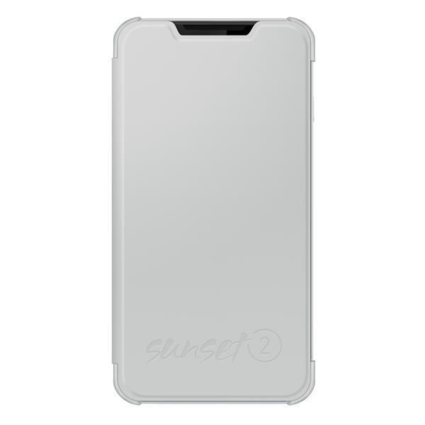 WIKO Folio back cover pour Sunset 2 Blanc