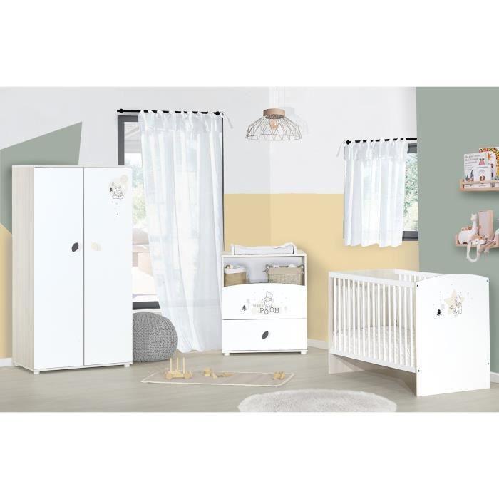 BABYPRICE WINNIE Winter Retreat Chambre complète bébé : lit 60*120 cm commode armoire
