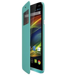 Folio back cover Wiko Slide Turquoise
