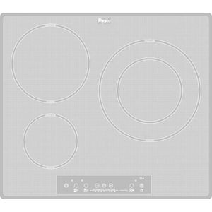 WHIRLPOOL ACM680NEWH - Table de cuisson induction - 3 zones - 7000W - L58 x P49cm - Rev?tement verre - Blanc