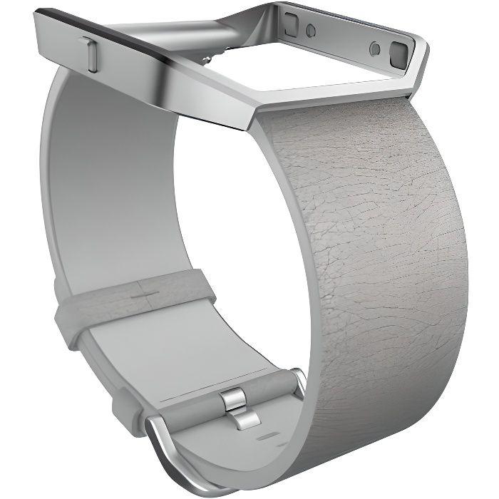 FITBIT Bracelet Collection Luxe Cuir pour BLAZE - Gris Brume - Taille L