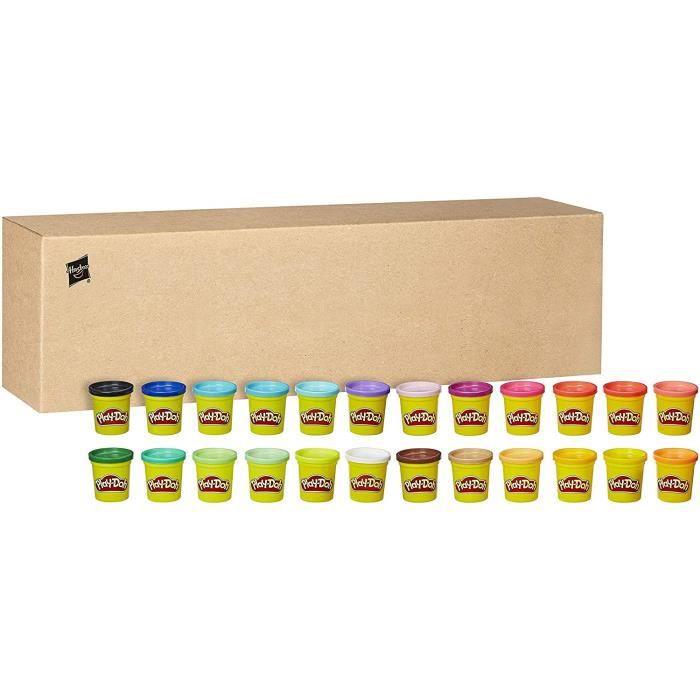 Play-Doh – 24 pots de Pate A Modeler de couleurs - 84 g chacun