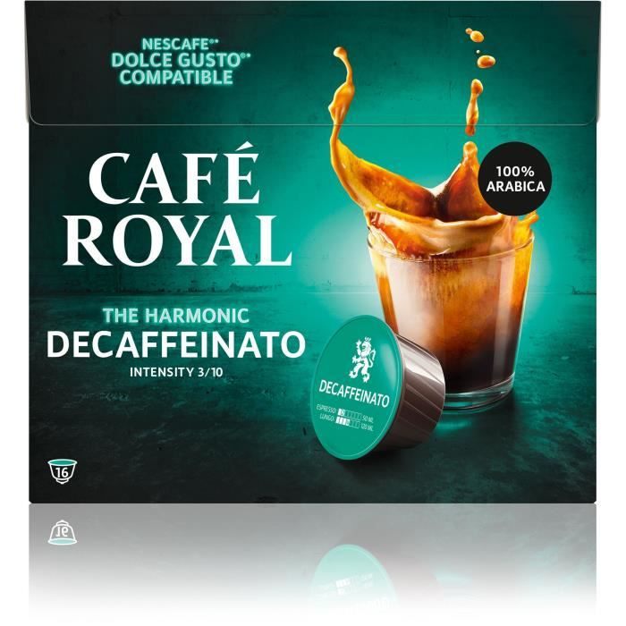 CAFE ROYAL Compatible Dolce Gusto R Decaffeinato x16