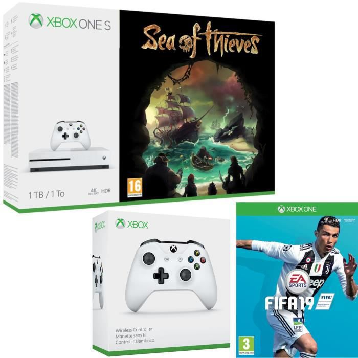 Xbox One S 1 To Sea of Thieves + Fifa 19 + manette