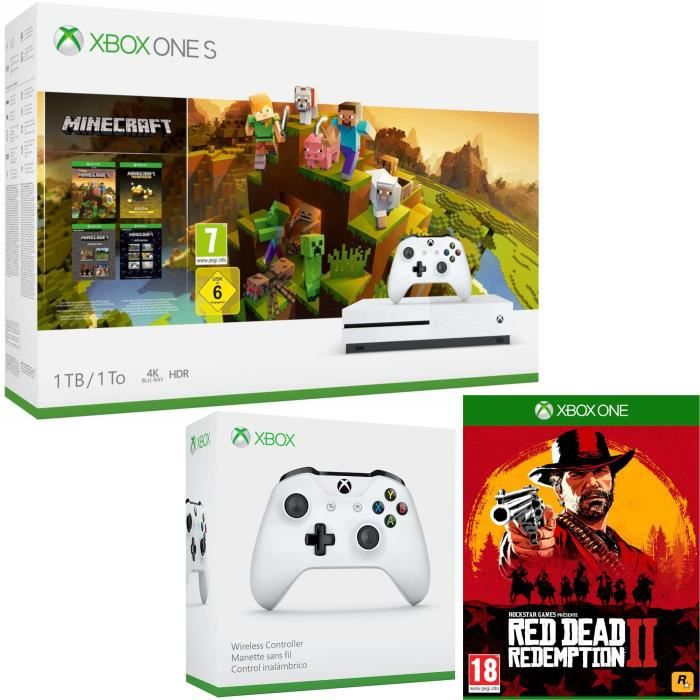 Xbox One S 1 To Minecraft Creators + Red Dead Redemption 2 + manette