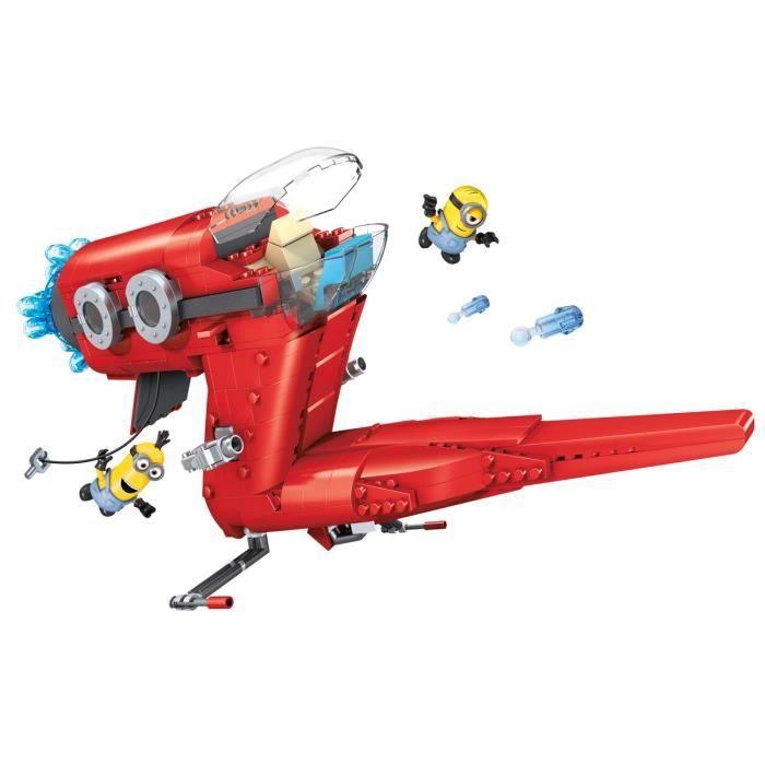 MEGA BLOKS Les Minions Le Jet de Supervillain - 472 pièces - 5 ans et +