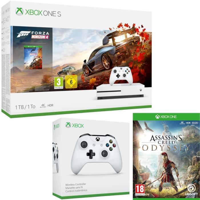 Xbox One S 1 To Forza Horizon 4 + Assassin's Creed Odyssey + manette