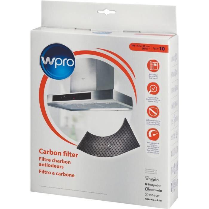 Wpro ARC201 Filtre de hotte à charbon forme demi-lune - pour hottes Whirlpool AKR400-AKR404-AKR405
