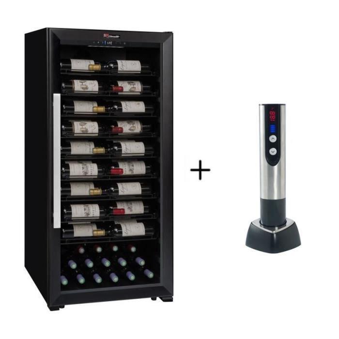 CLIMADIFF PRO100 - Cave de service multi-température ou de vieillissement à 98 bouteilles + CLIMADIFF TB5035 tire bouchon électrique