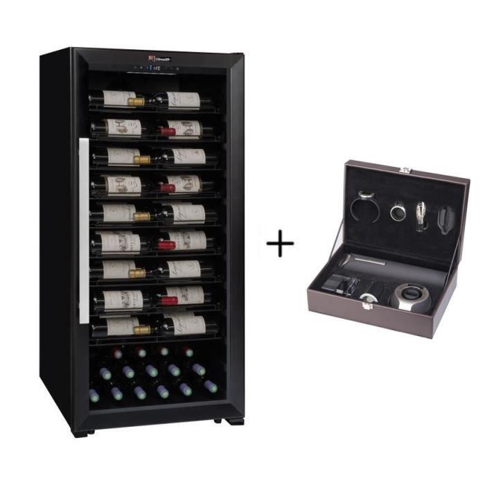 CLIMADIFF PRO100 - Cave de service multi-température à 98 bouteilles + CLIMADIFF PACK6 - Coffret du sommelier - Pack 6 accessoires
