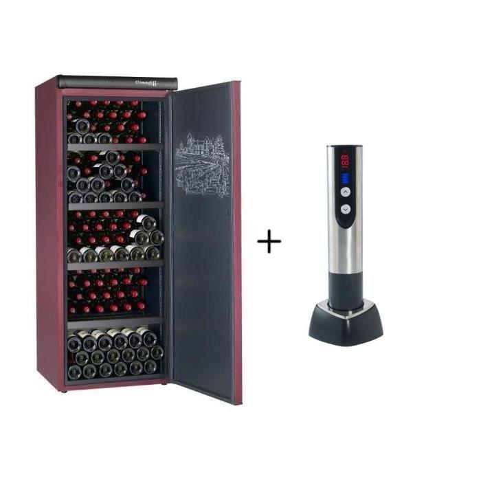 CLIMADIFF CVP215 -Cave à vin de vieillissement-216 bouteilles + CLIMADIFF TB5035 tire bouchon électrique