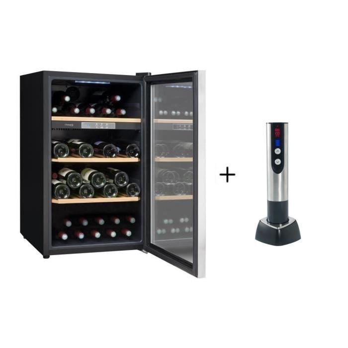 CLIMADIFF CLS50 - Cave à vin de service - 52 bouteilles + CLIMADIFF TB5035 tire bouchon électrique
