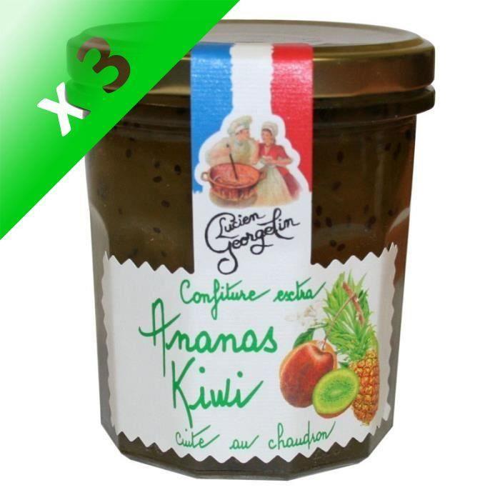 [LOT DE 3] Confiture Extra d'Ananas Kiwis 350g
